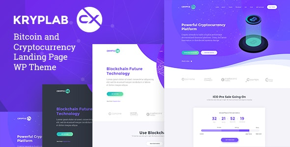 Kryplab - Bitcoin & Cryptocurrency Theme - Technology WordPress