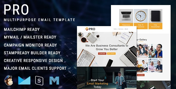 Pro - Multipurpose Responsive Email Newsletter Template - Newsletters Email Templates
