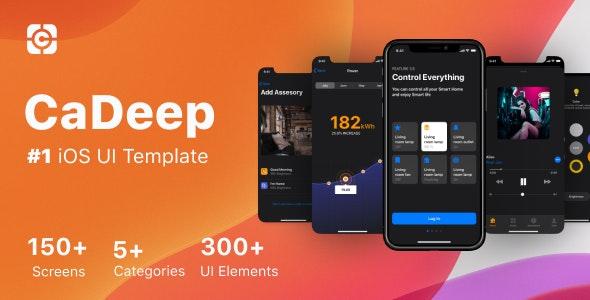 CaDeep - iOS Design Template - Sketch UI Templates