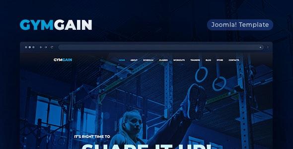 Sports Joomla Template GymGain - Health & Beauty Retail