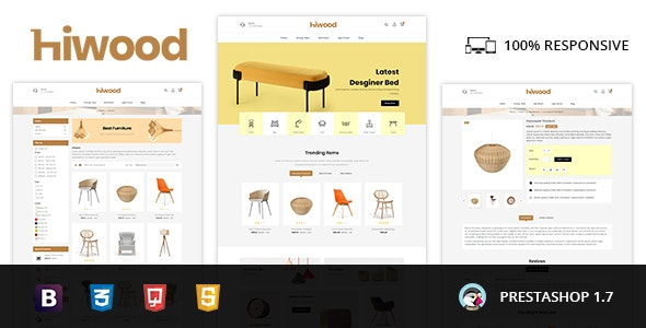 Hiwood - Furniture & Home Decor Prestashop Theme - Shopping PrestaShop