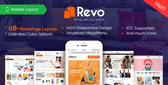 Revo - Premium Responsive PrestaShop Theme for Mega Store with Mobile-Specific Layout - Shopping PrestaShop