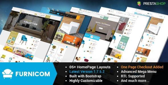 Furnicom - Responsive PrestaShop 1.6 and 1.7 Furniture Theme - Shopping PrestaShop