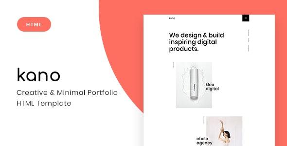 Kano - Creative & Minimal Portfolio HTML Template - Portfolio Creative