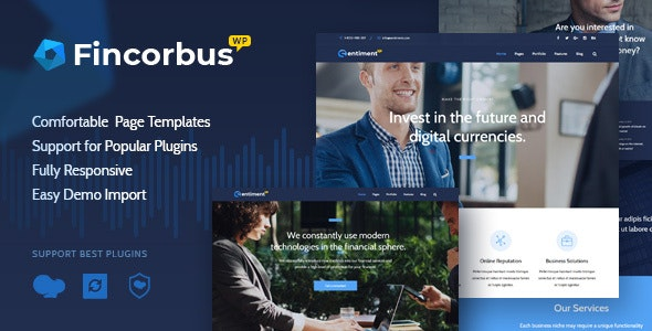 Fincorbus - Finance Corporate WordPress Theme - Business Corporate