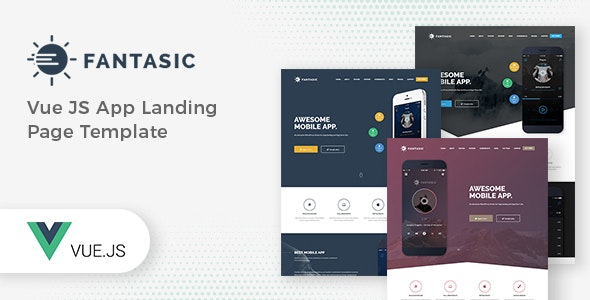 Fantasic Vue JS App Landing Page Template