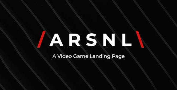 ARSNL - Video Game Landing Page - Creative Site Templates