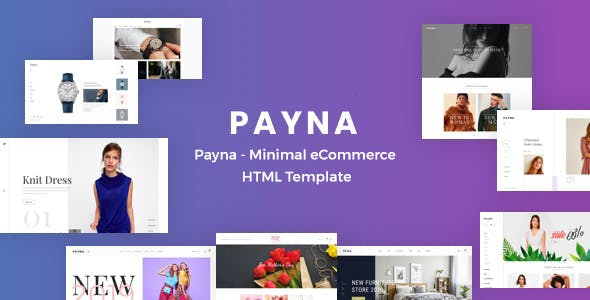 Payna - Minimal eCommerce HTML Template nulled theme download