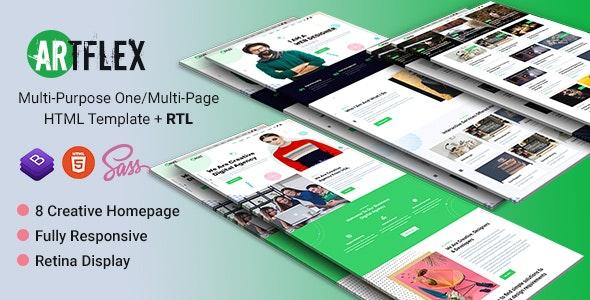 Artflex | Multi-Niche HTML Templates - Portfolio Creative