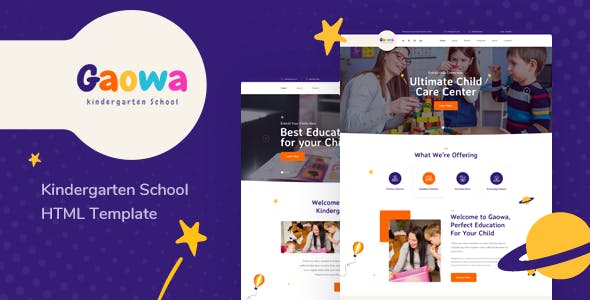Gaowa - Kindergarten & Baby Care HTML Template nulled theme download