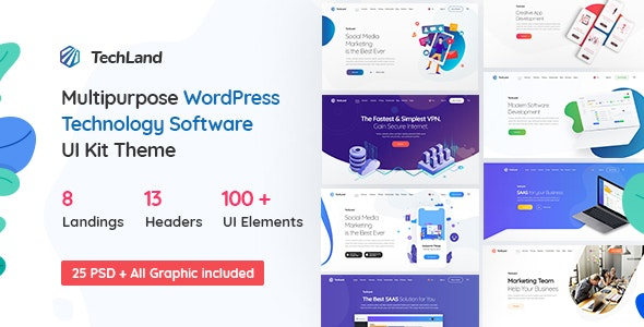 Techland - WordPress Saas Startup Theme - Software Technology