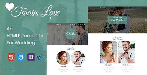 Twain Love - Responsive HTML5 Wedding Template - Wedding Site Templates