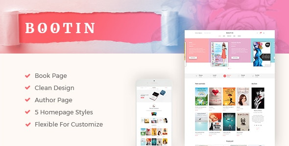 Bootin - Book Store WooCommerce WordPress Theme by wpbingo