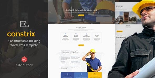 Constrix - Construction & Building WordPress Theme - Business Corporate