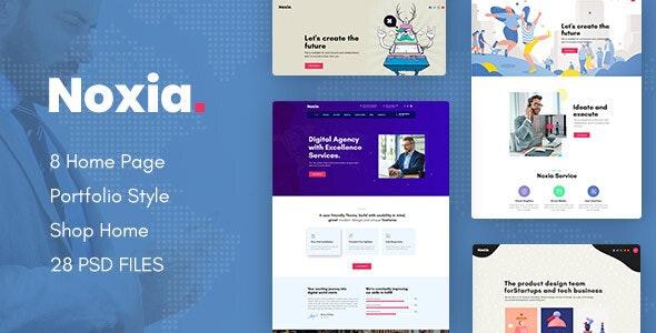Noxia - Creative Business Agency & Portfolio PSD Template - Business Corporate