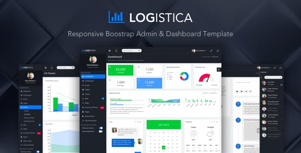 Logistica - Admin & Dashboard Template nulled theme download