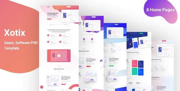 Xotix - Landing Page for Saas, Software nulled theme download