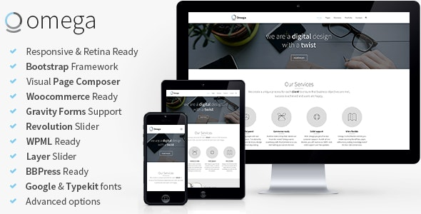 Omega - Multi-Purpose Responsive Bootstrap Theme - Business Corporate