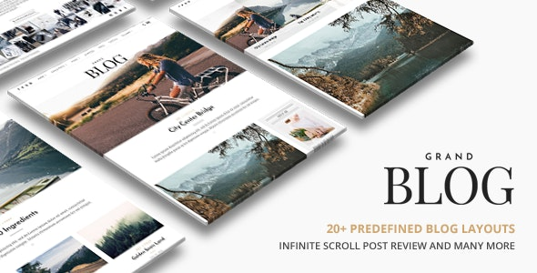Grand Blog WordPress - Personal Blog / Magazine