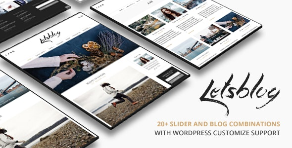 Lets Blog WordPress - Personal Blog / Magazine