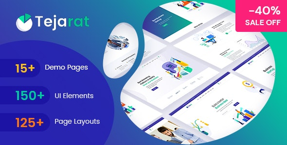 Tejarat - Multipurpose Business & Corporate HTML Template - Corporate Site Templates