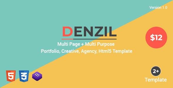 Denzil — Multi-Page Multi-Purpose Html Template - Creative Site Templates