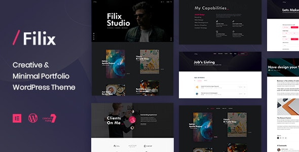 Filix - Creative Minimal Portfolio WordPress Theme - Creative WordPress