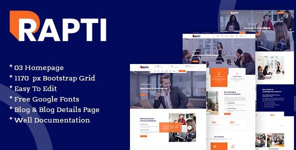 Rapti Multipurpose Business PSD Template - Corporate Photoshop