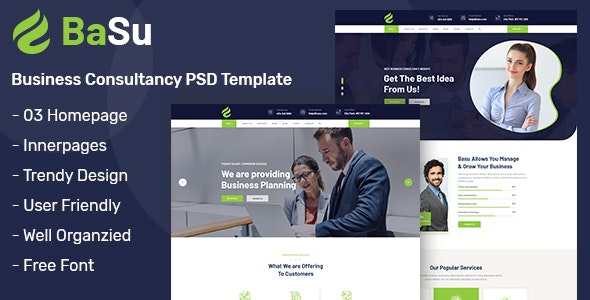 Basu - Business Consulting PSD Template - Business Corporate