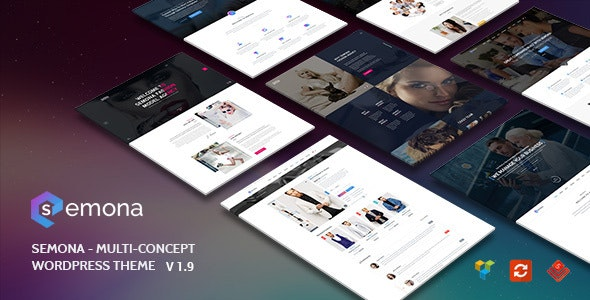 Semona - Creative Multi-Concept WordPress Theme - Corporate WordPress