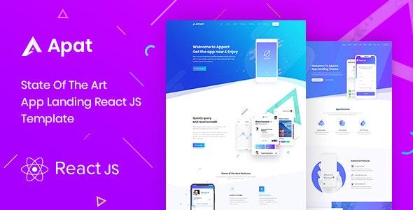 Apat | ReactJS App Landing Showcase Template - Site Templates