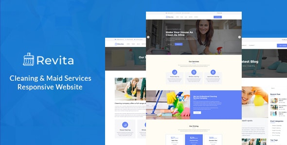 Revita – Cleaning Company Responsive Website - Business Corporate