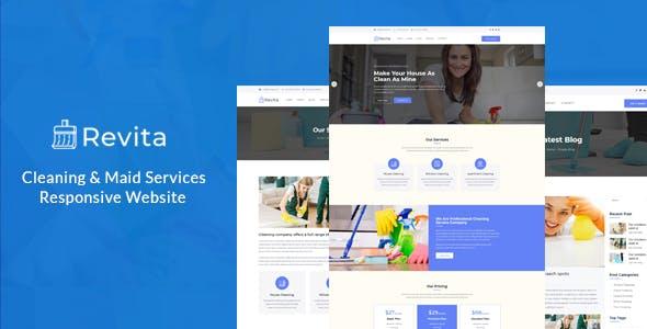Revita – Cleaning Company Responsive Website