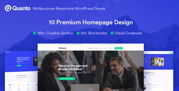 Quanto - Business Responsive WordPress Theme - Business Corporate