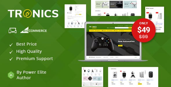 Tronics - Multipurpose Stencil BigCommerce Theme nulled theme download