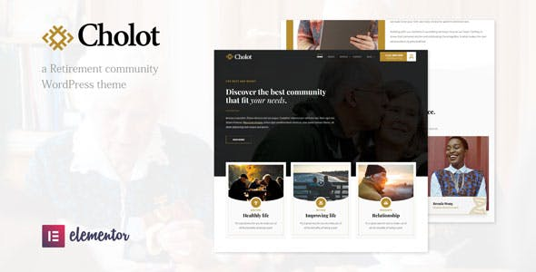 Cholot - Retirement Community WordPress Theme nulled theme download