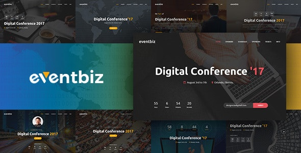 Eventbiz - Event, Conference and Seminar Website Template - Events Entertainment