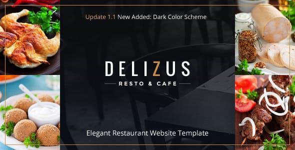 Restaurant Website Template - Delizus