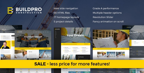 BuildPro - Construction and Building Website Template - Business Corporate