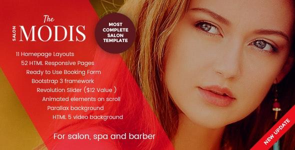 Modis - Salon, Spa & Barber Website Template - Health & Beauty Retail