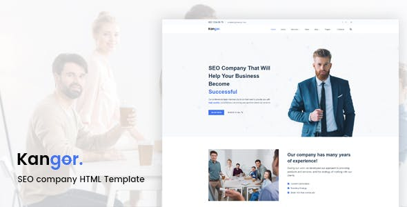 Kangor - SEO company HTML Template nulled theme download
