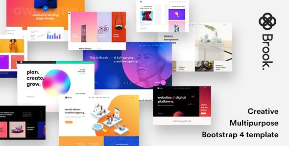 Brook - Creative Agency & Business HTML Template - Portfolio Creative