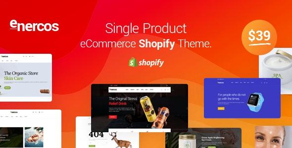 Enercos - Single Product eCommerce Shopify Theme - Health & Beauty Shopify