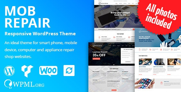 MobRepair - Mobile Phone Repair Services WordPress Theme - Technology WordPress