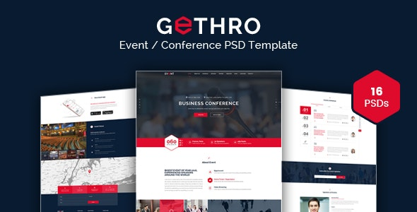 GETHRO - Conference and Event PSD Template - Events Entertainment