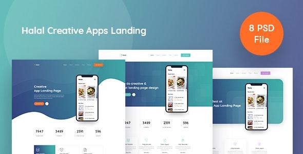 Halal -  Creative Apps Landing - Food Retail