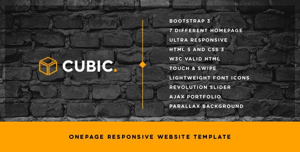Cubic - One Page Creative Website Template