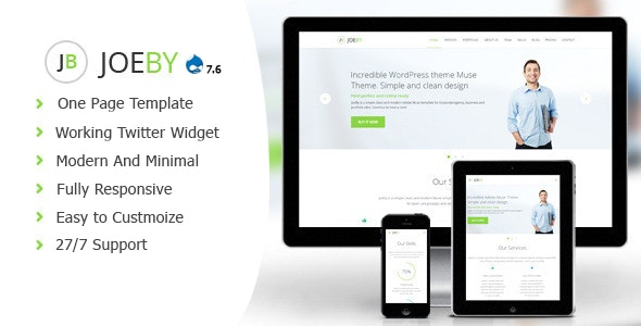 JoeBy Clean Business Drupal 7.6 Theme - Business Corporate