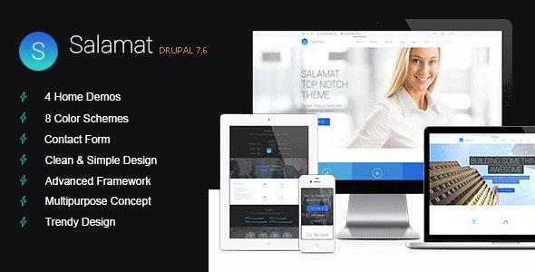 Salamat - Multipurpose Drupal 7 Theme - Business Corporate