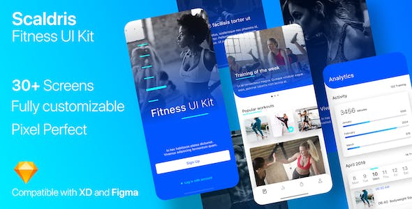 Scaldris Fitness App nulled theme download